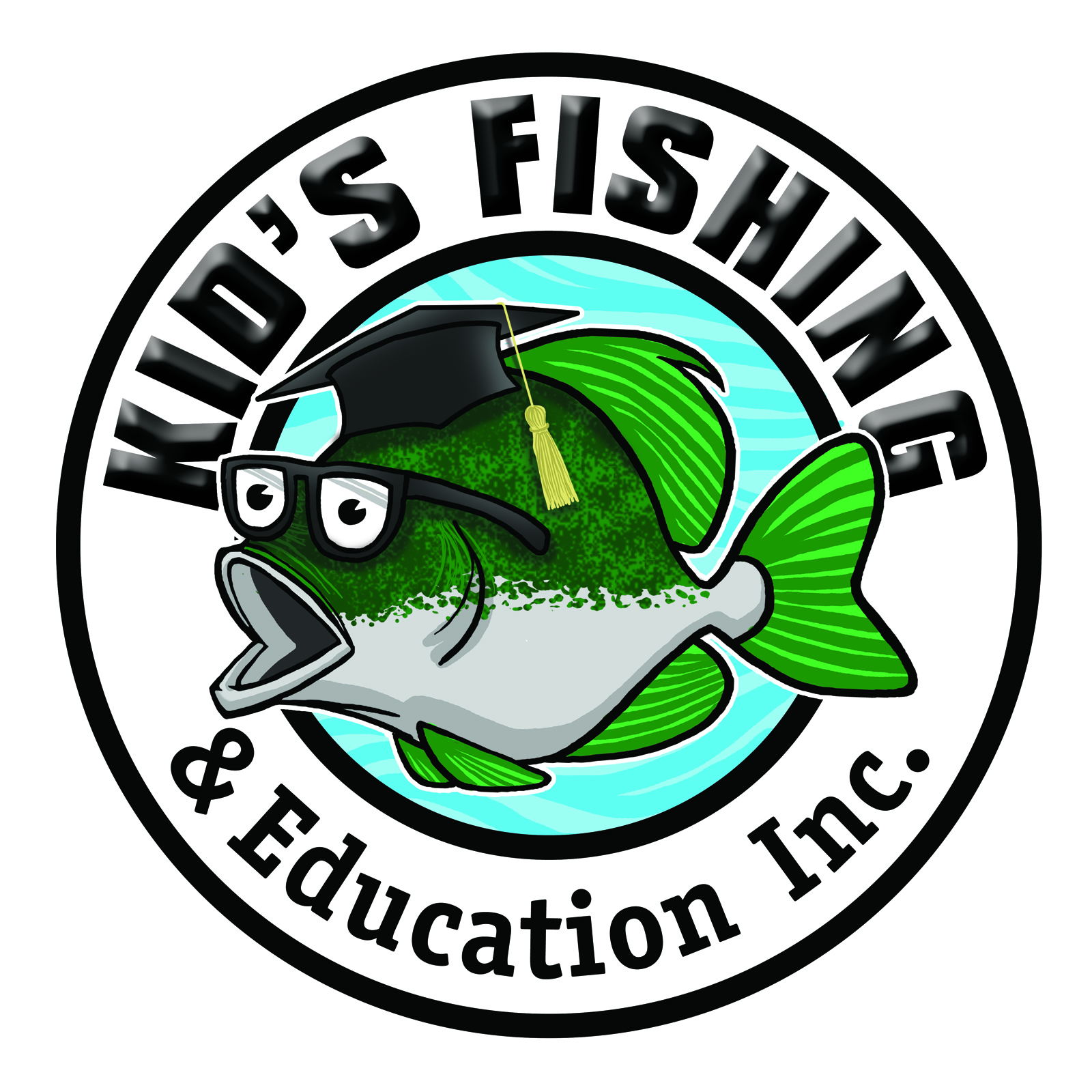 KIDS FISHING  EDUCATION LOGO